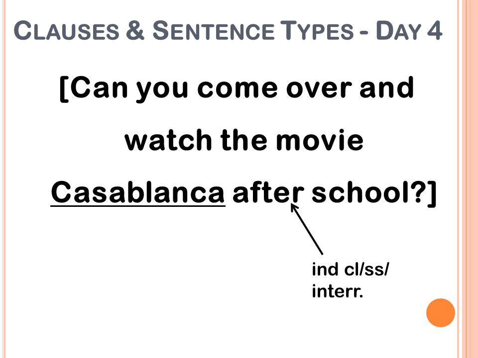[Can you come over and watch the movie Casablanca after school ]